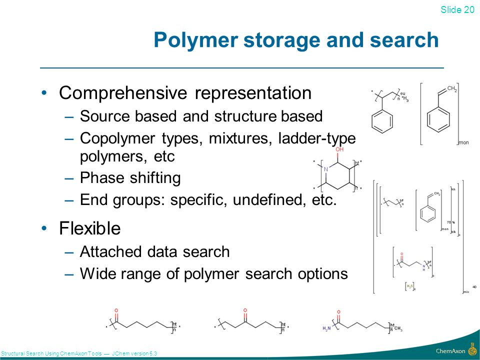 Polymer storage and search