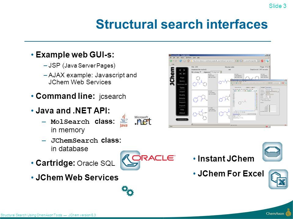 Structural search interfaces