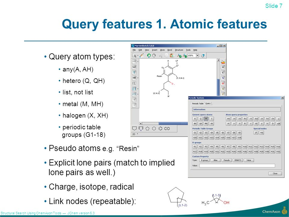 Query features 1. Atomic features