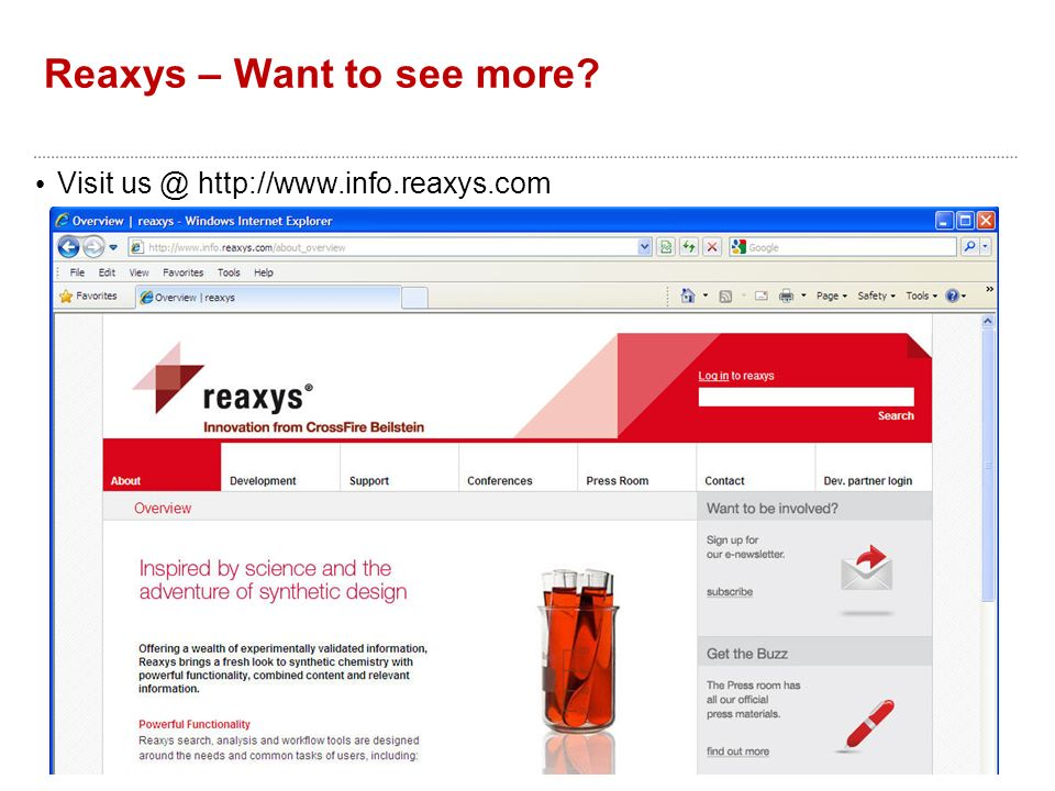 Reaxys – Want to see more