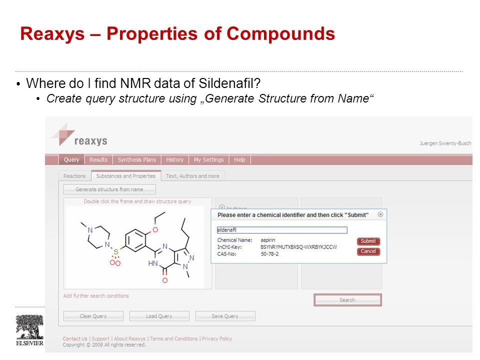 Reaxys – Properties of Compounds