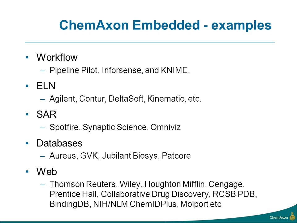 ChemAxon Embedded - examples