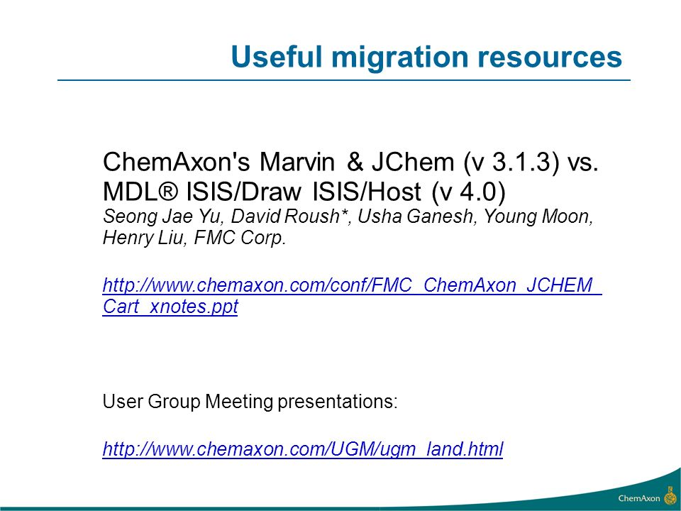 Useful migration resources
