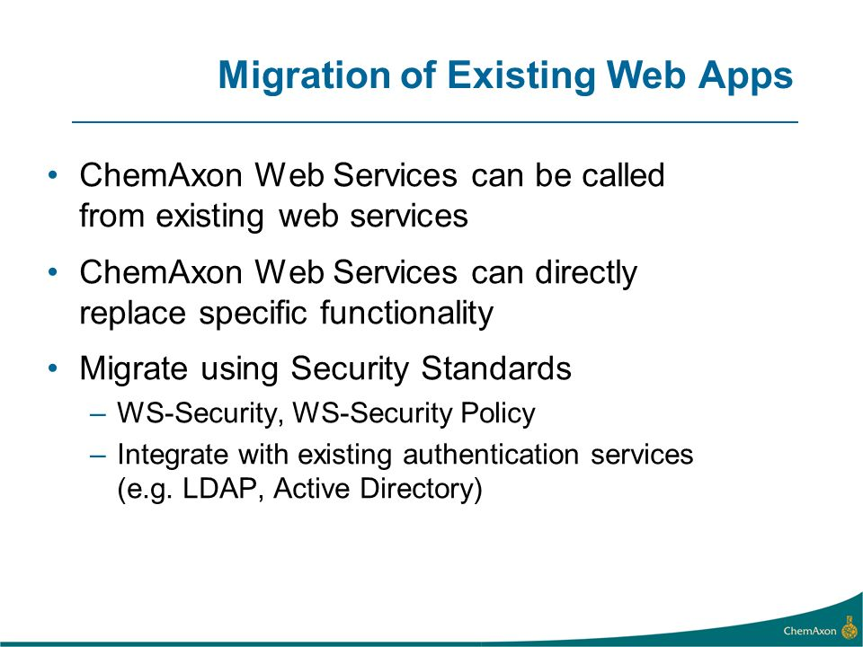 Migration of Existing Web Apps
