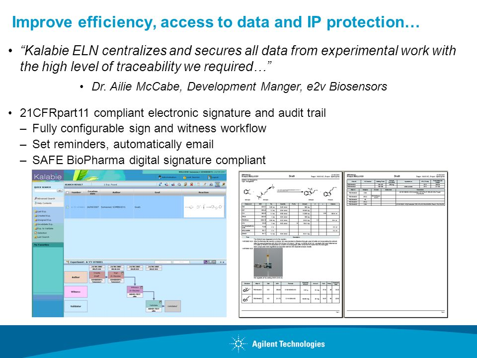 Improve efficiency, access to data and IP protection…