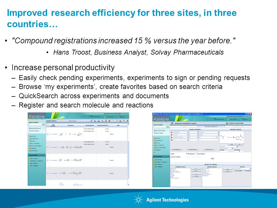Improved research efficiency for three sites, in three countries…