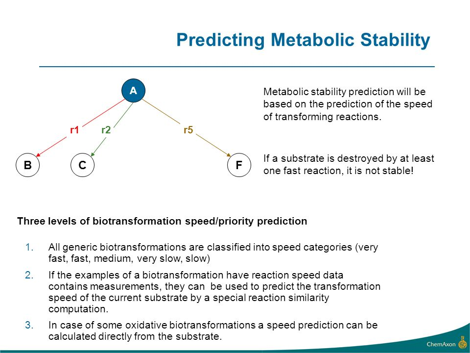 Predicting Metabolic Stability