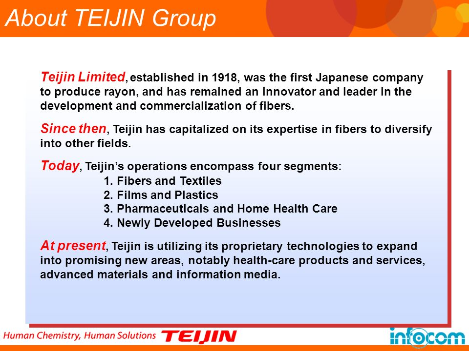 About TEIJIN Group