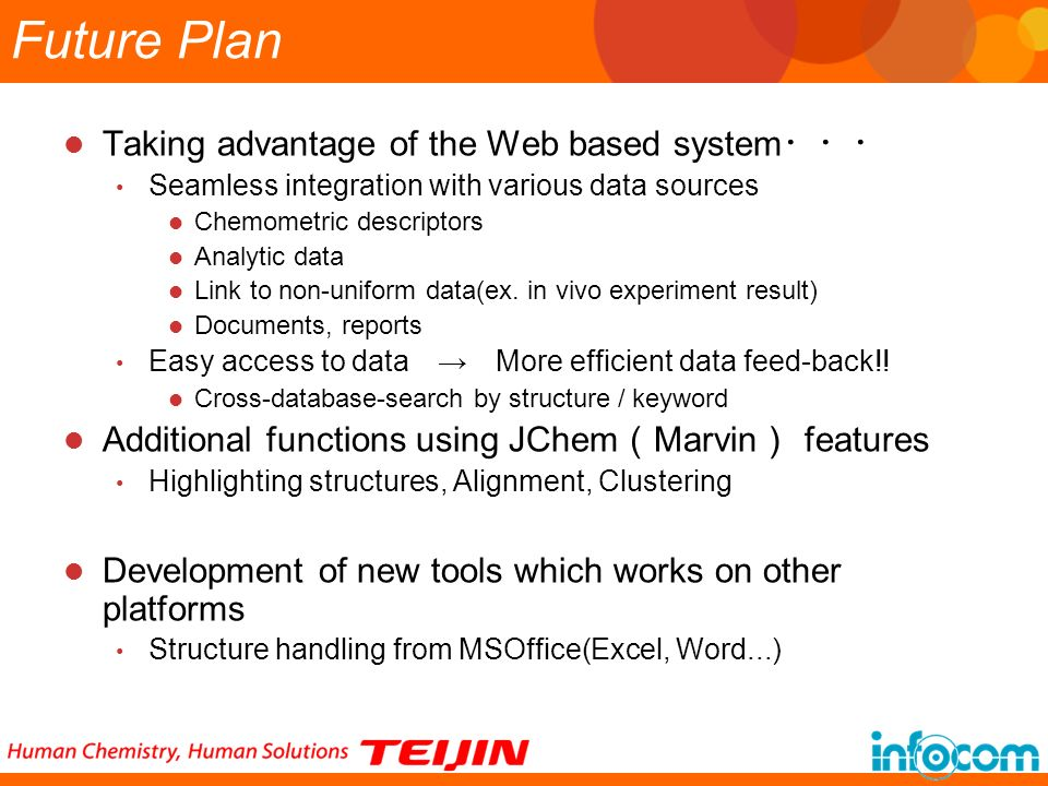 Future Plan Taking advantage of the Web based system・・・