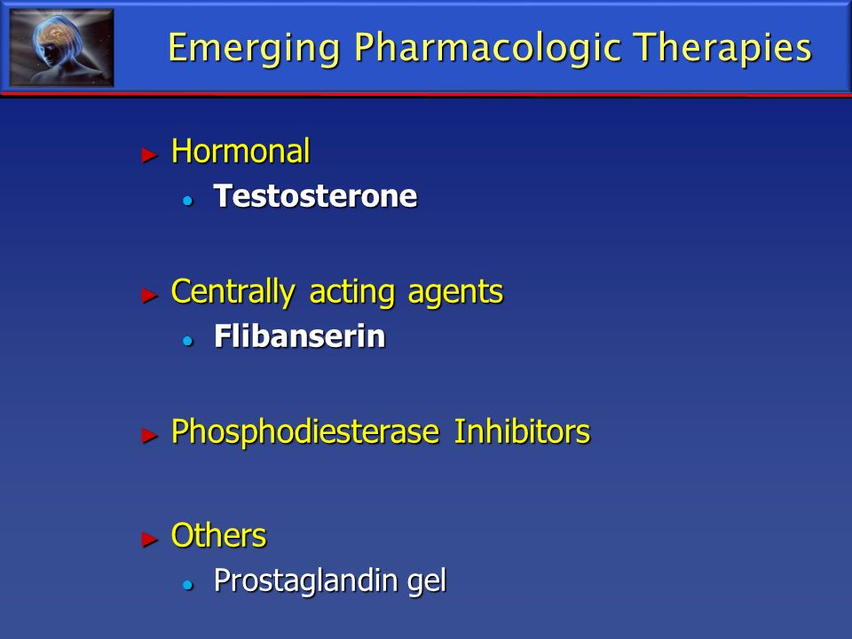 Emerging Pharmacologic Therapies