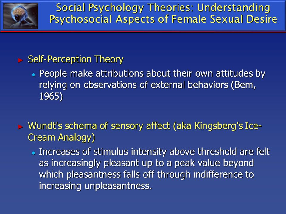 Social Psychology Theories: Understanding Psychosocial Aspects of Female Sexual Desire