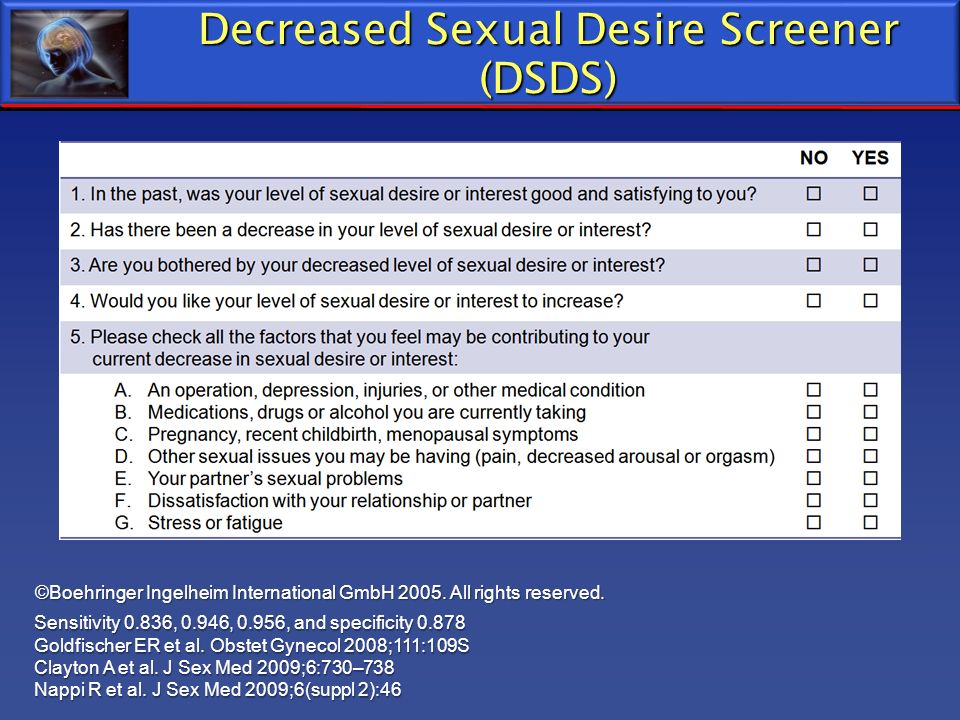 Decreased Sexual Desire Screener (DSDS)