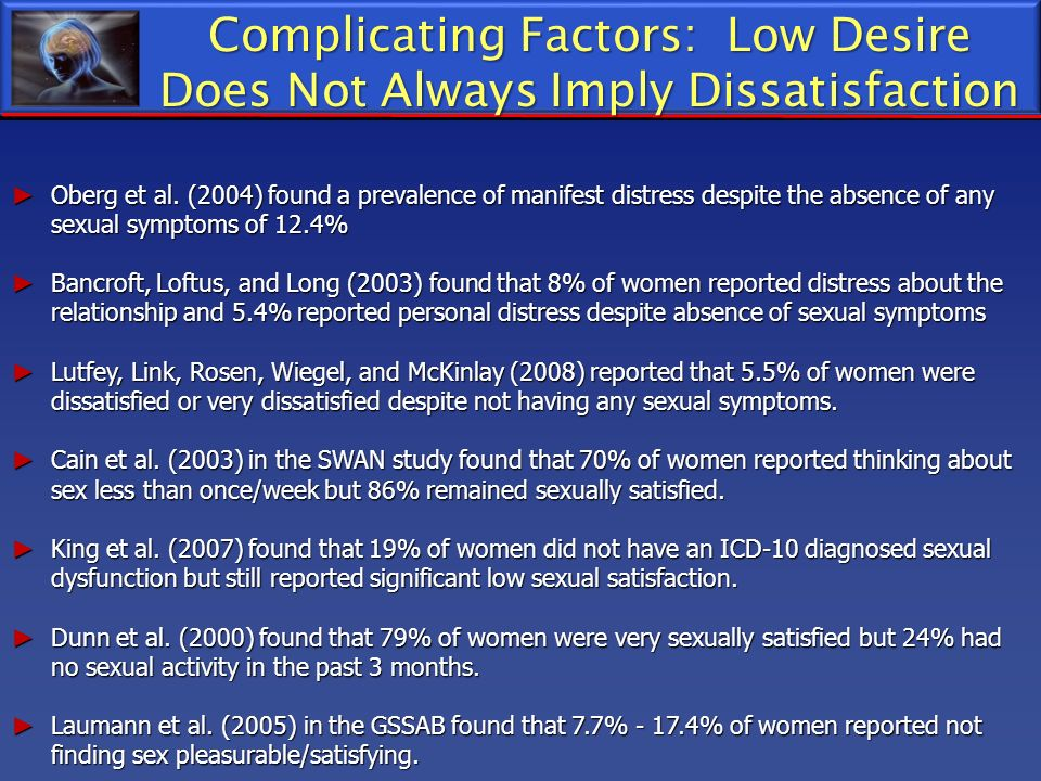 Complicating Factors: Low Desire Does Not Always Imply Dissatisfaction