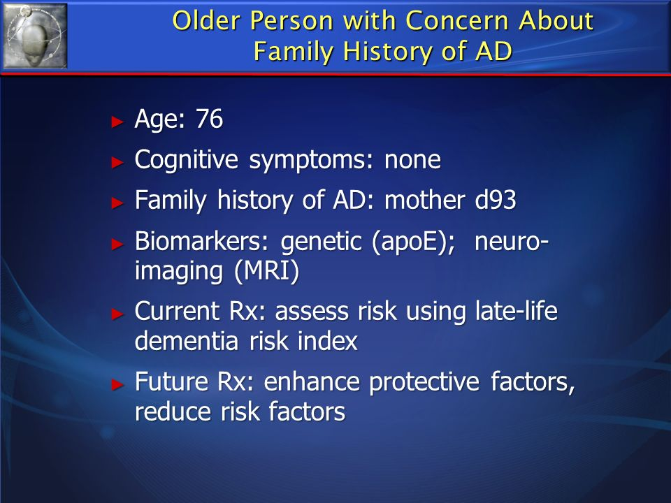 Older Person with Concern About