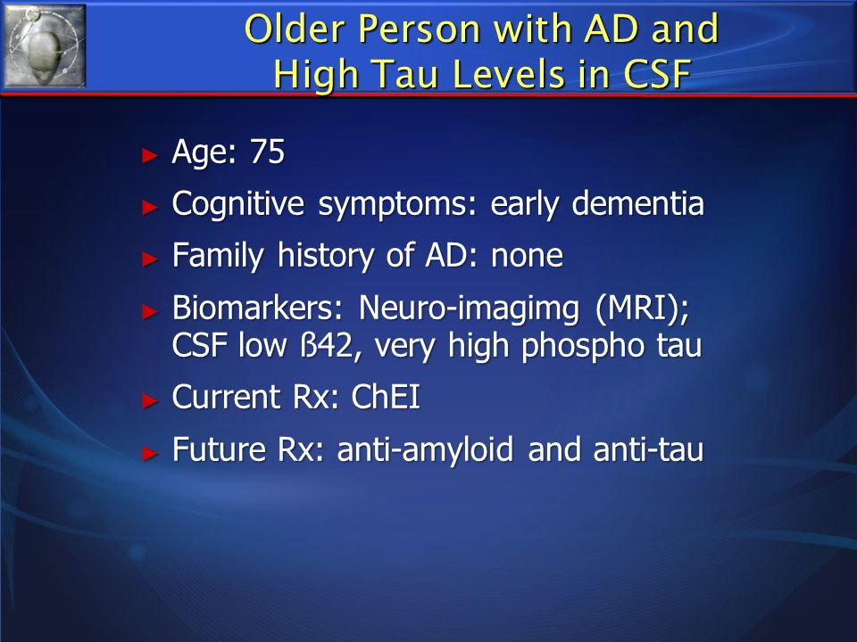 Older Person with AD and