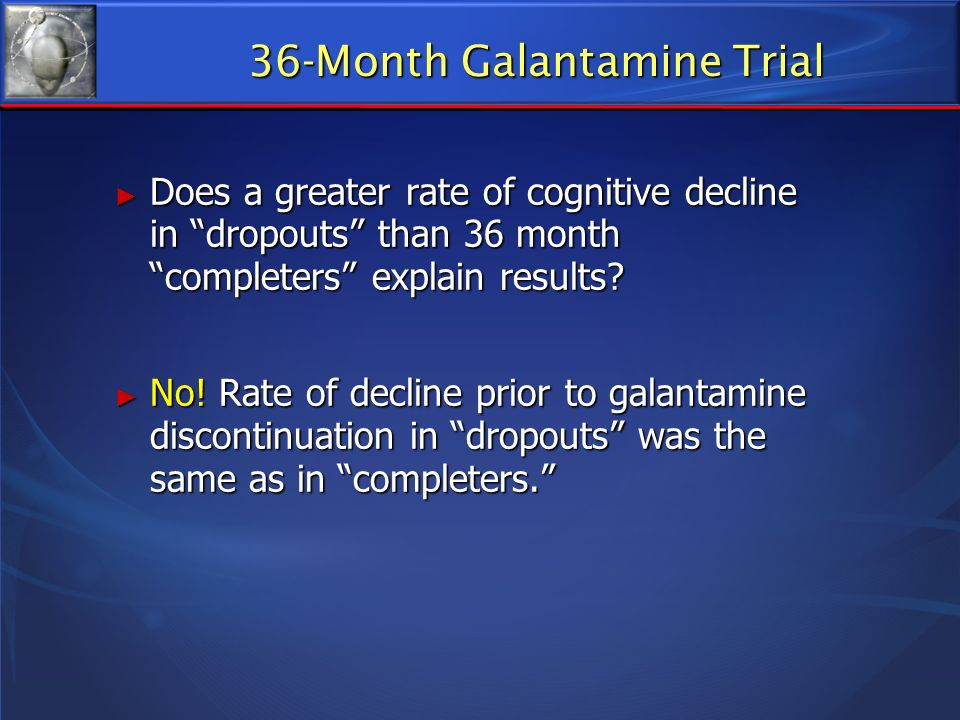36-Month Galantamine Trial
