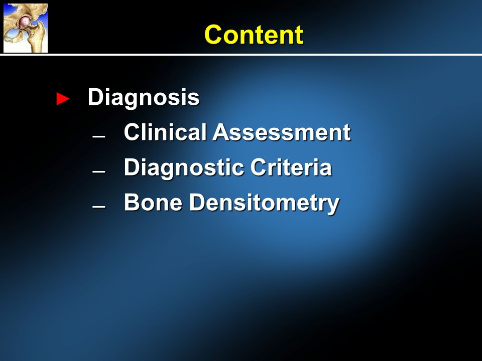 Content Diagnosis Clinical Assessment Diagnostic Criteria