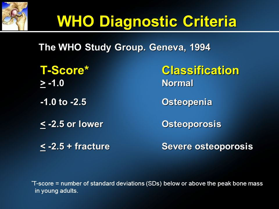 WHO Diagnostic Criteria