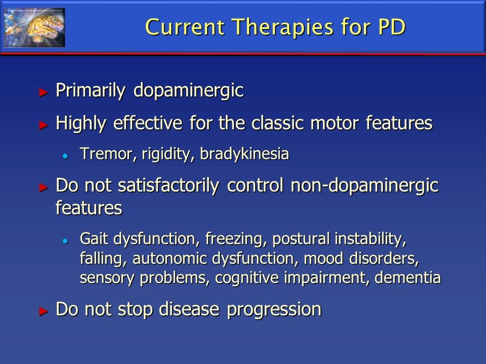 Current Therapies for PD