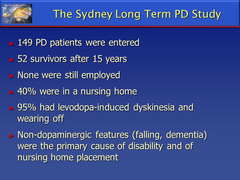 The Sydney Long Term PD Study