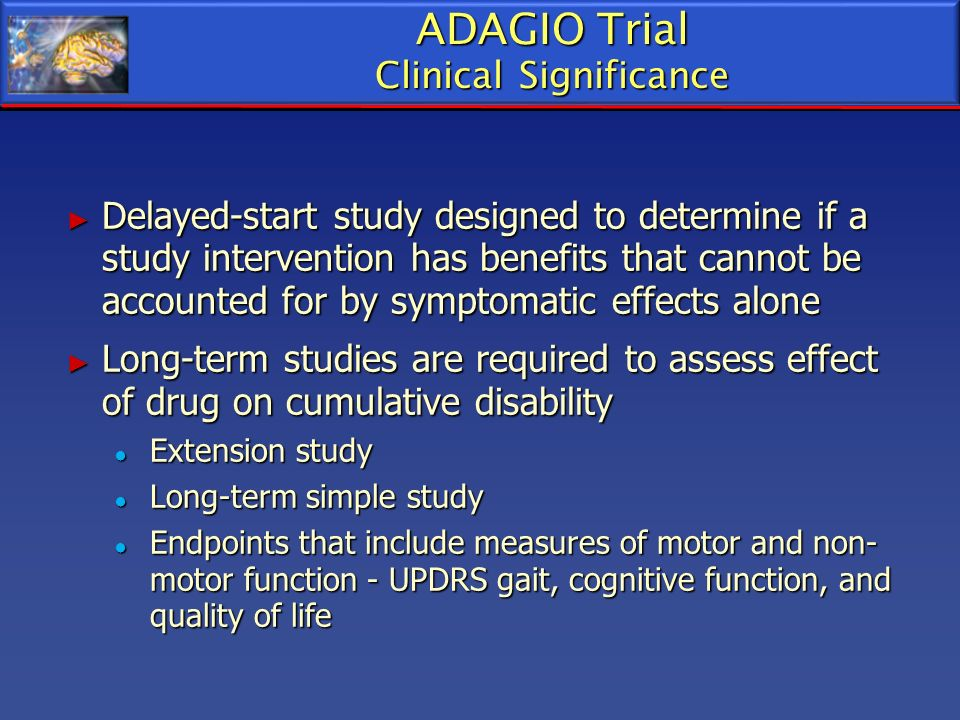 ADAGIO Trial Clinical Significance