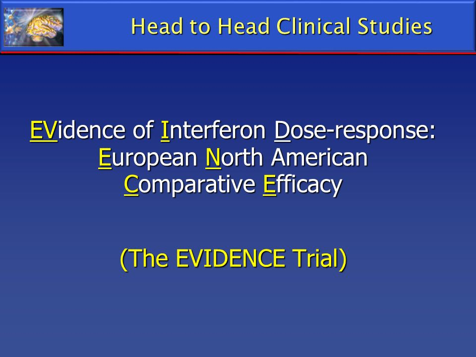 Head to Head Clinical Studies