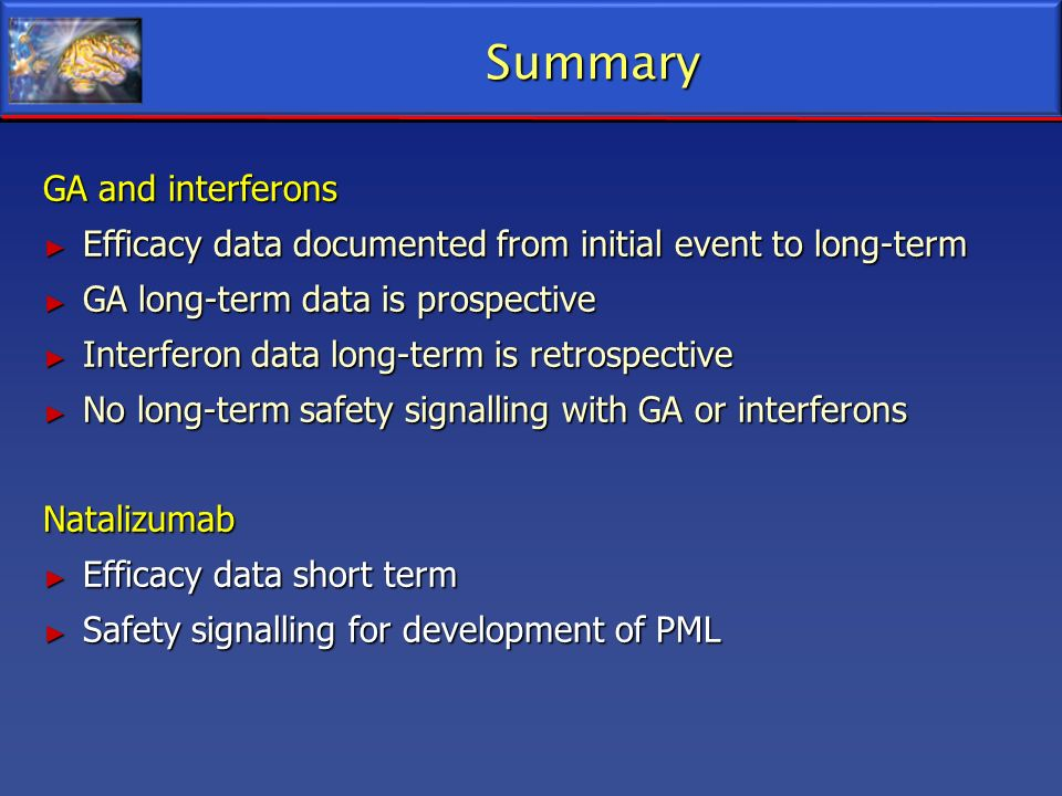 Summary GA and interferons