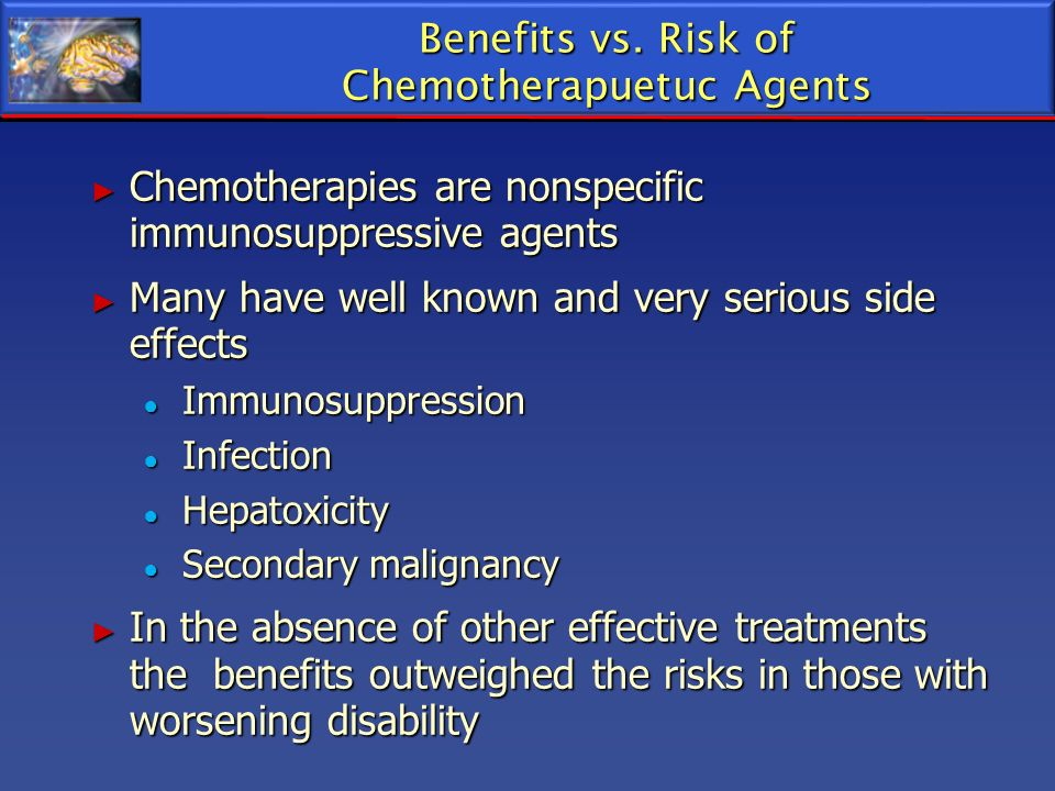 Benefits vs. Risk of Chemotherapuetuc Agents