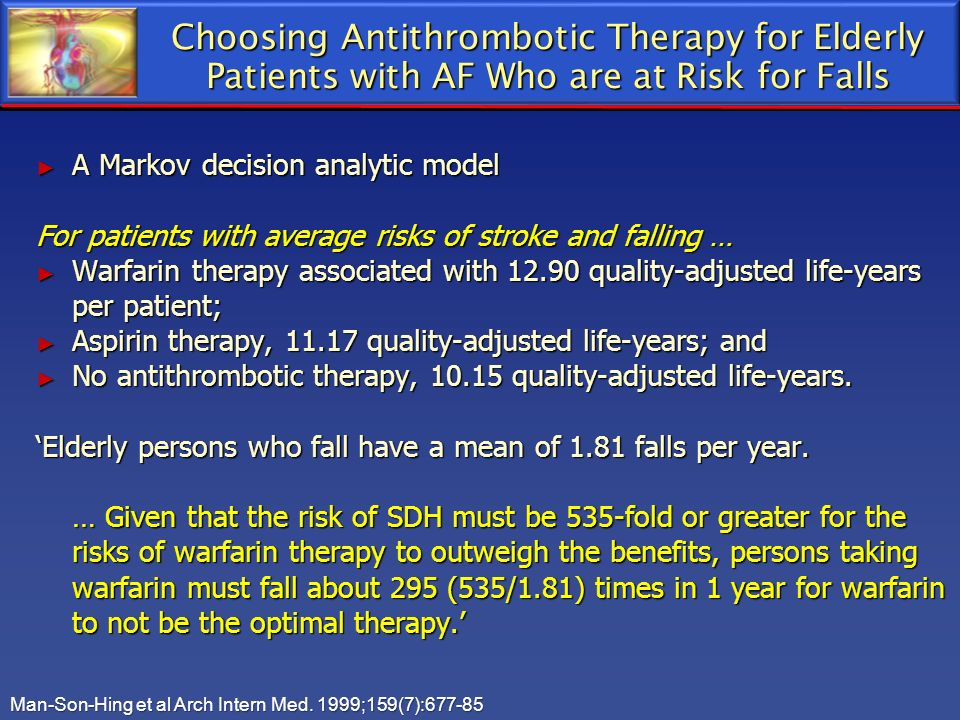 Choosing Antithrombotic Therapy for Elderly Patients with AF Who are at Risk for Falls