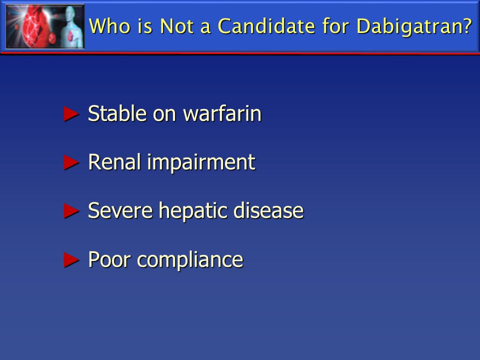 Who is Not a Candidate for Dabigatran