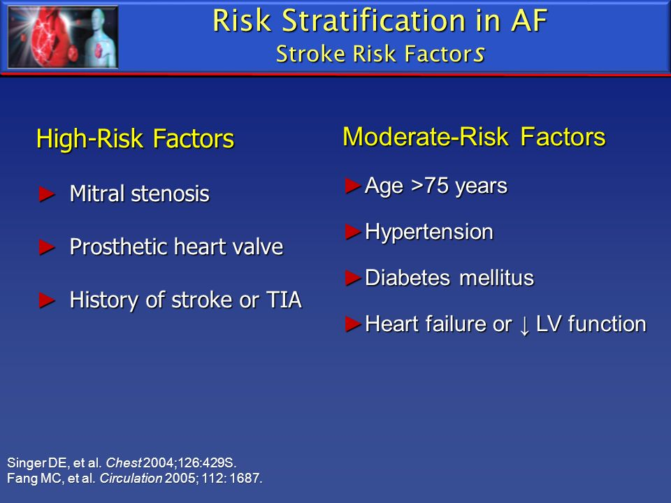 Risk Stratification in AF Stroke Risk Factors