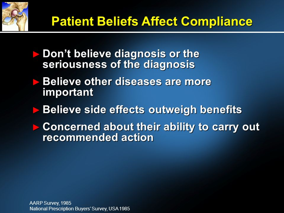 Patient Beliefs Affect Compliance