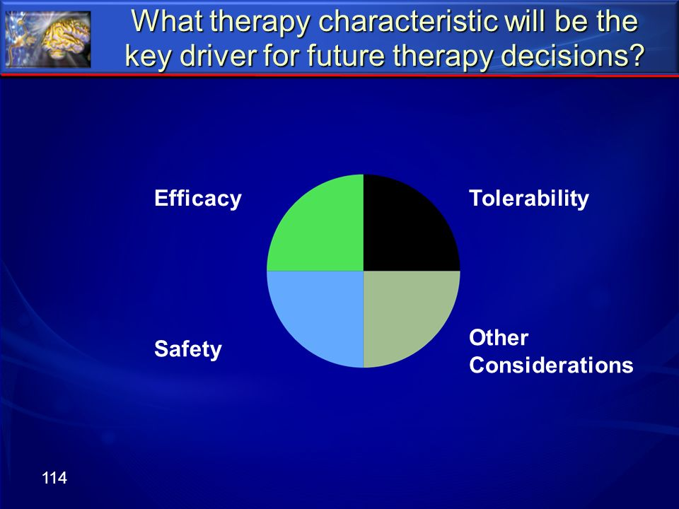What therapy characteristic will be the key driver for future therapy decisions