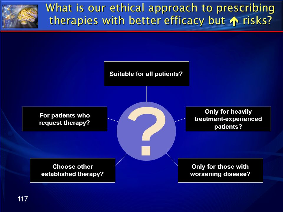 What is our ethical approach to prescribing therapies with better efficacy but  risks