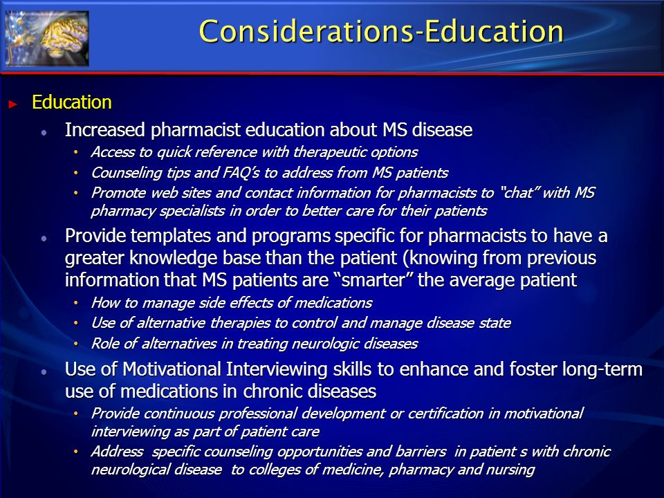 Considerations-Education