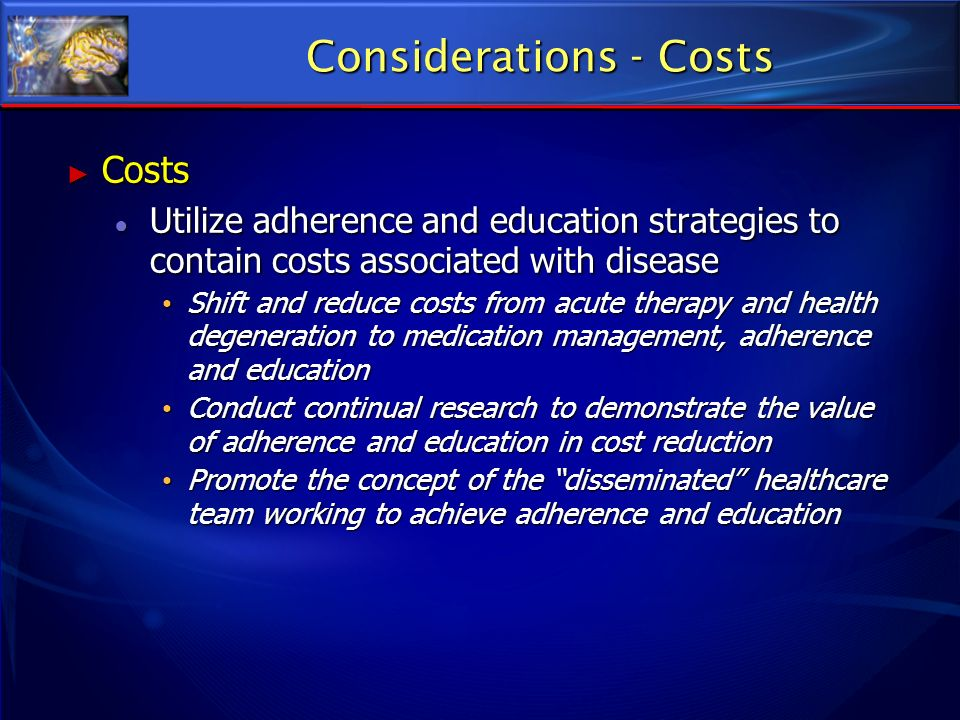 Considerations - Costs
