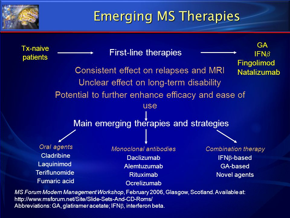 Emerging MS Therapies First-line therapies