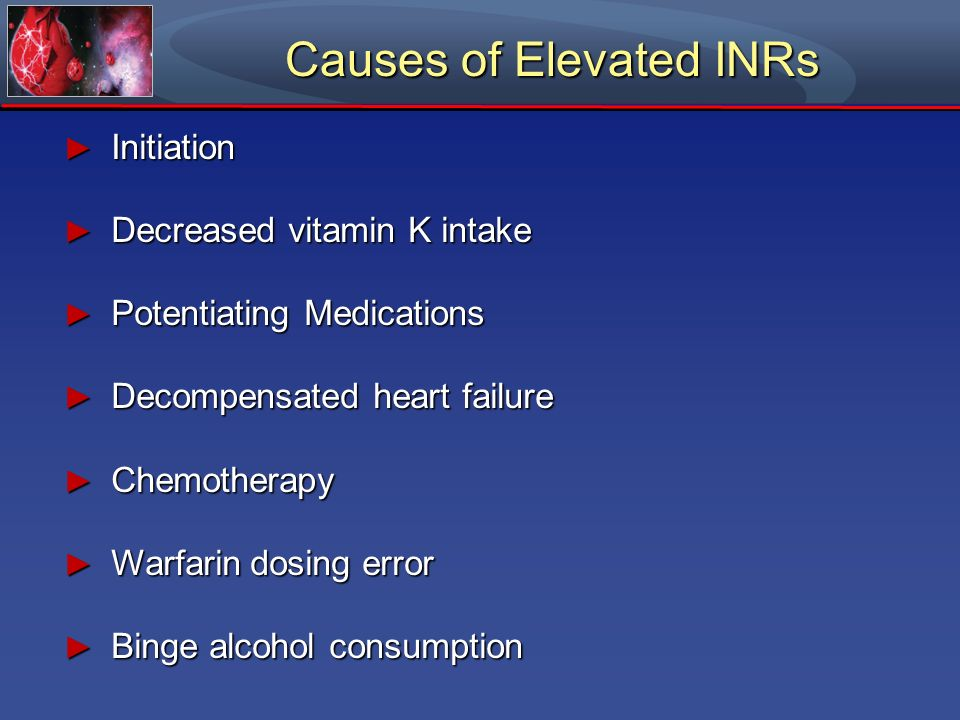 Causes of Elevated INRs