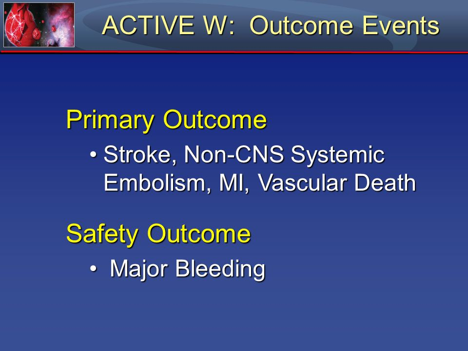 ACTIVE W: Outcome Events