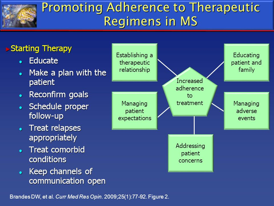 Promoting Adherence to Therapeutic Regimens in MS
