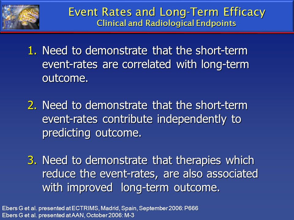 Event Rates and Long-Term Efficacy