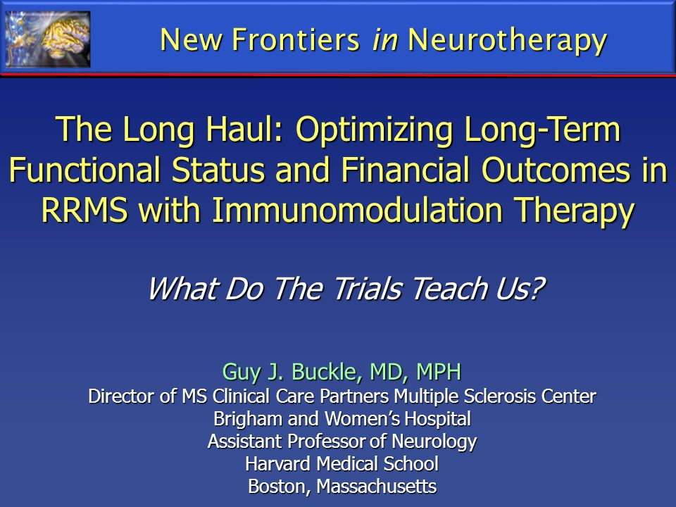 New Frontiers in Neurotherapy