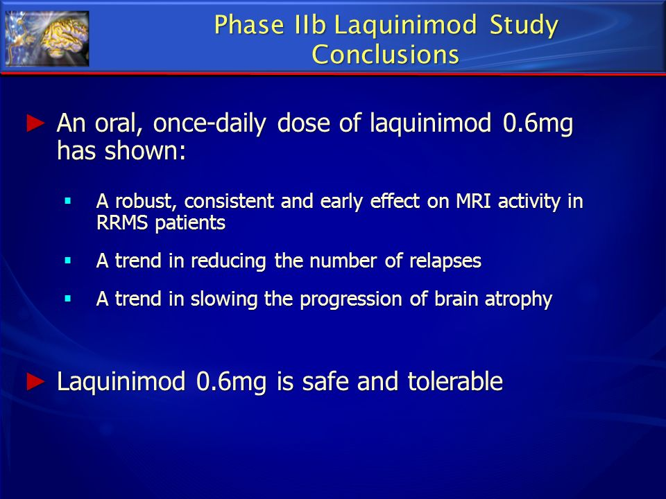 Phase IIb Laquinimod Study Conclusions