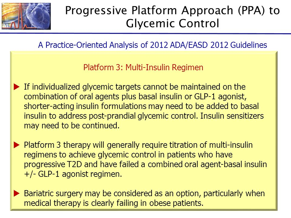 Progressive Platform Approach (PPA) to Glycemic Control