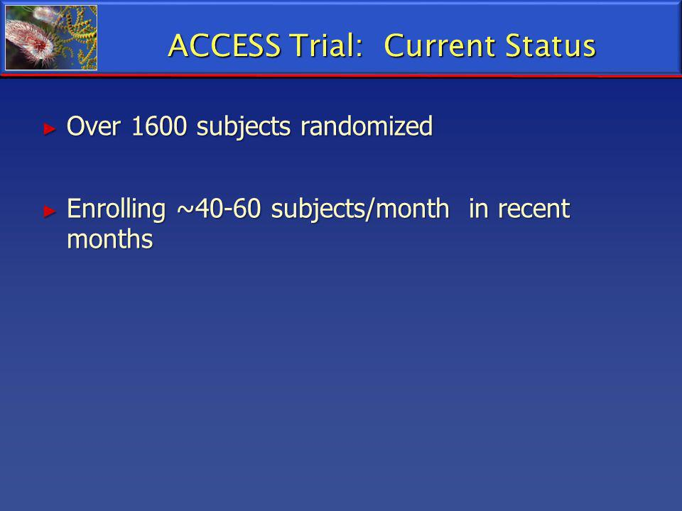 ACCESS Trial: Current Status