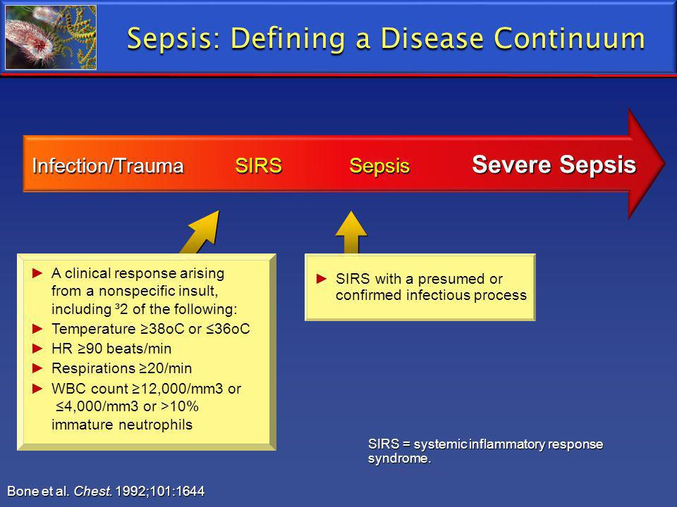 Sepsis: Defining a Disease Continuum