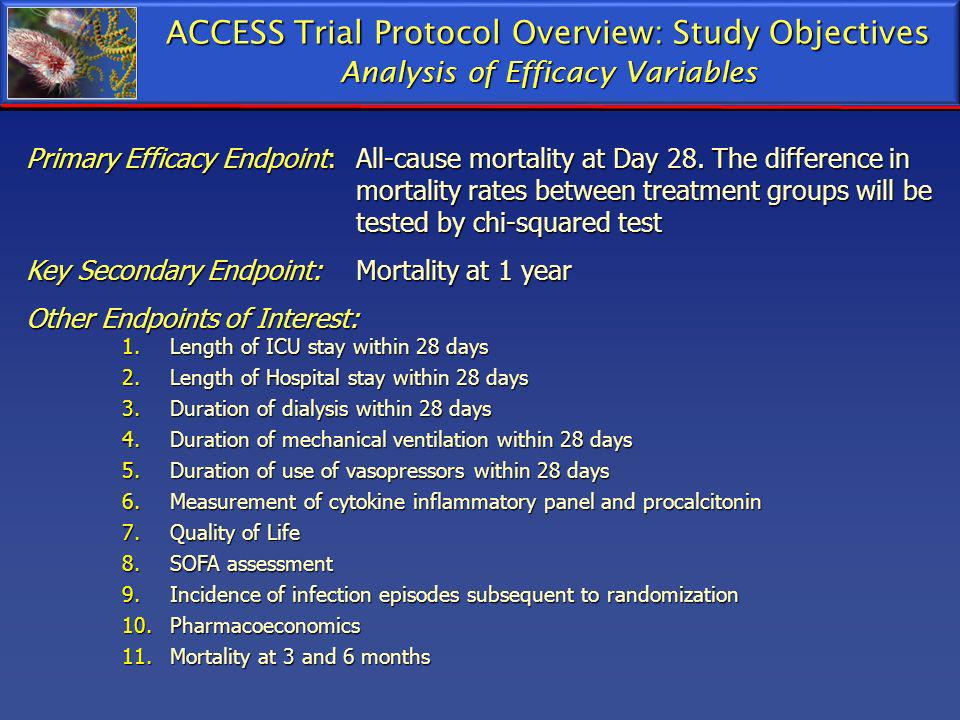 ACCESS Trial Protocol Overview: Study Objectives