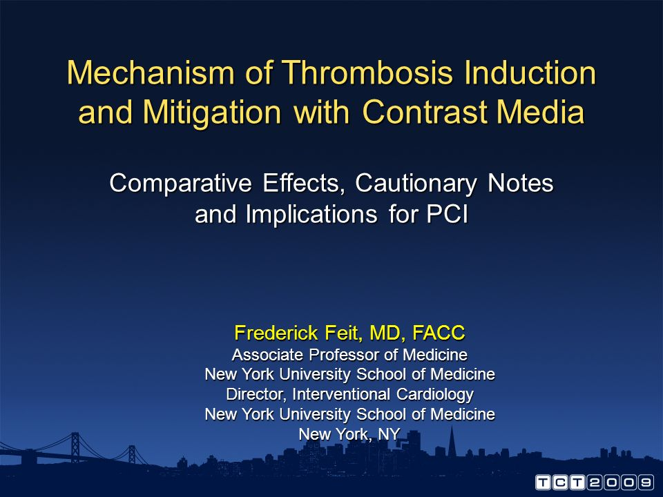 Mechanism of Thrombosis Induction and Mitigation with Contrast Media