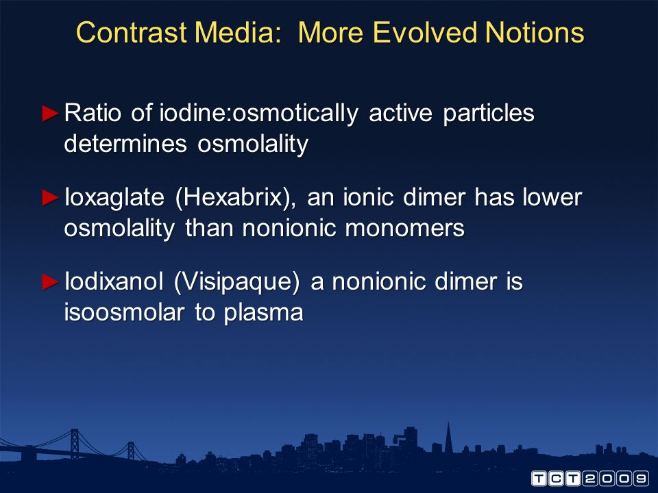 Contrast Media: More Evolved Notions