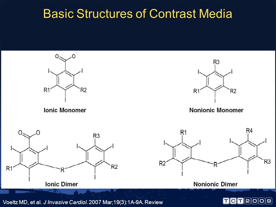 Basic Structures of Contrast Media